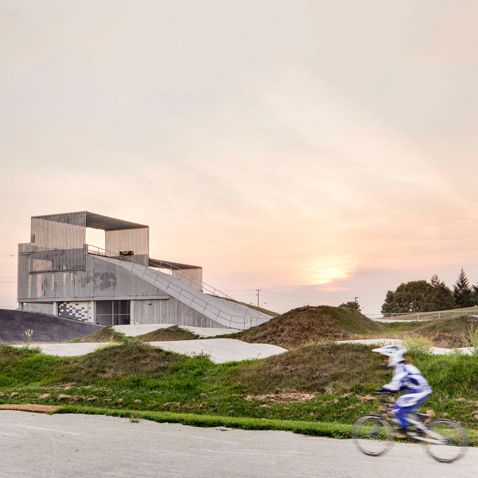 Snaking BMX race track installed in Toronto for Pan American Games