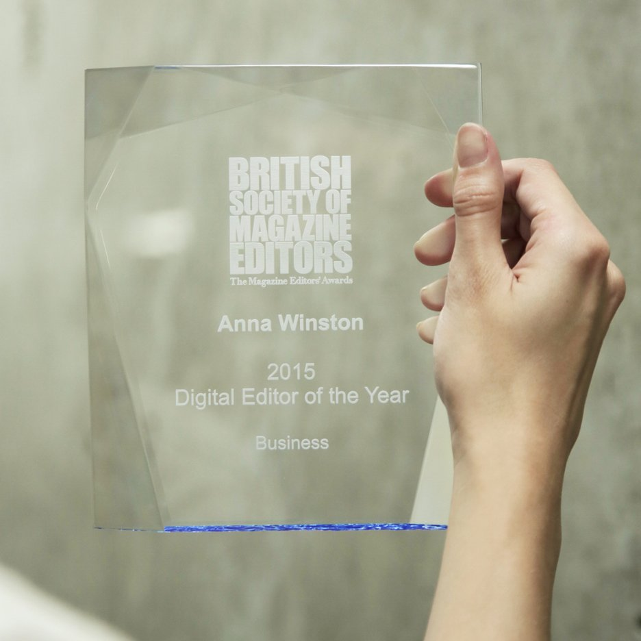 BSME award winner Anna Winston of Dezeen
