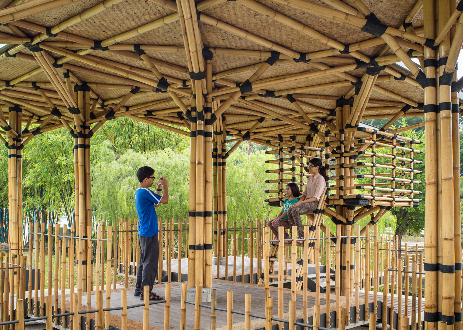 Bamboo Playhouse by Eleena Jamil Architect