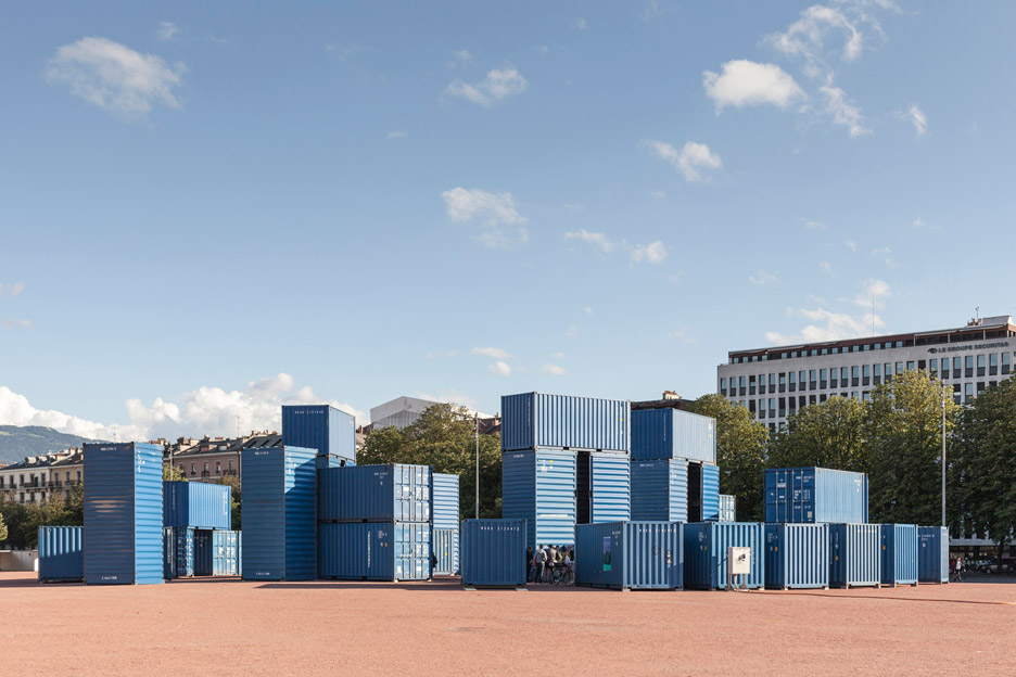 Bureau a recreates stonehenge using shipping containers