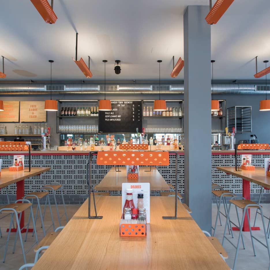Brinkworth strips back 1930s London pub to create fried chicken restaurant
