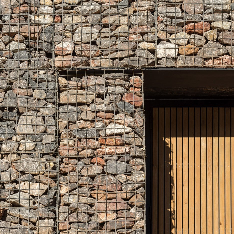 Architecture with gabion walls | Dezeen