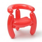 Seung Jin Yang's Blowing chairs are made from party balloons