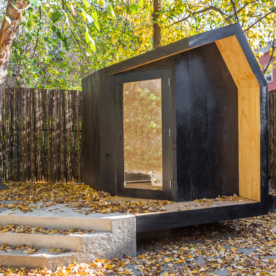 Tiny writer's studio by Architensions provides a creative refuge in Brooklyn