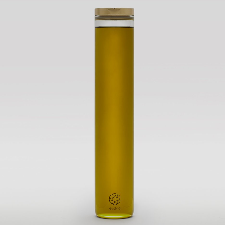 Evolvia By Evolve olive oil is presented in a minimal bottle