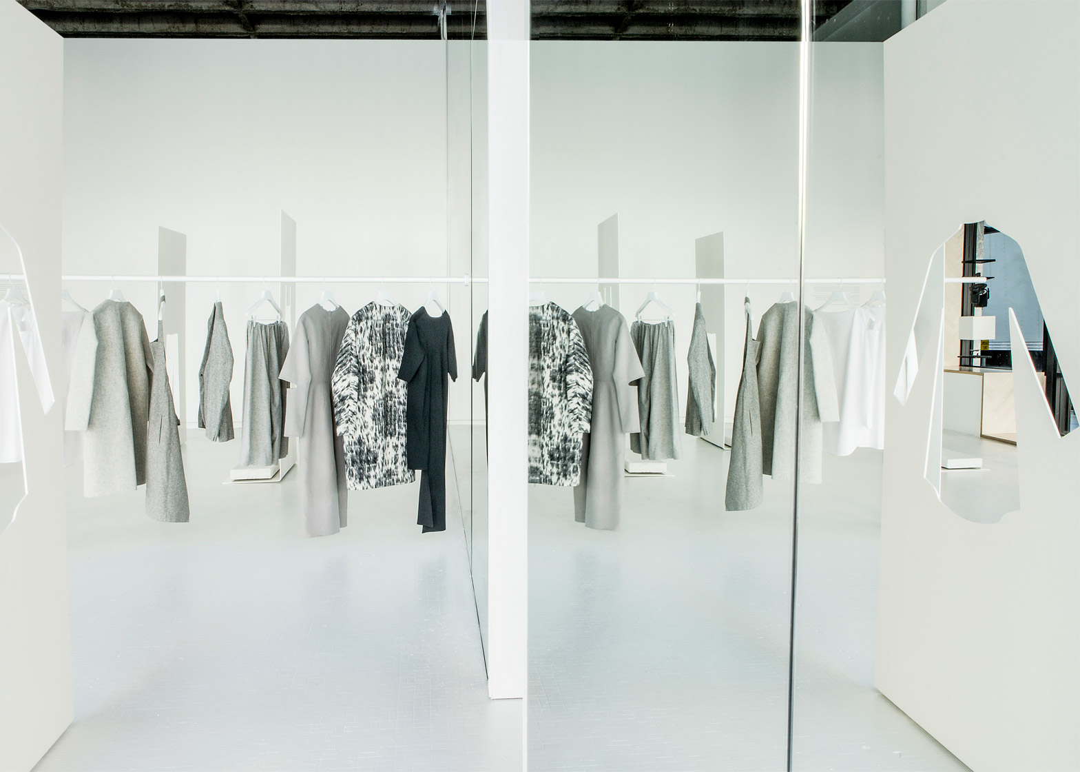 aa71c5c9afaa Snarkitecture uses steel and mirrors for COS pop-up store