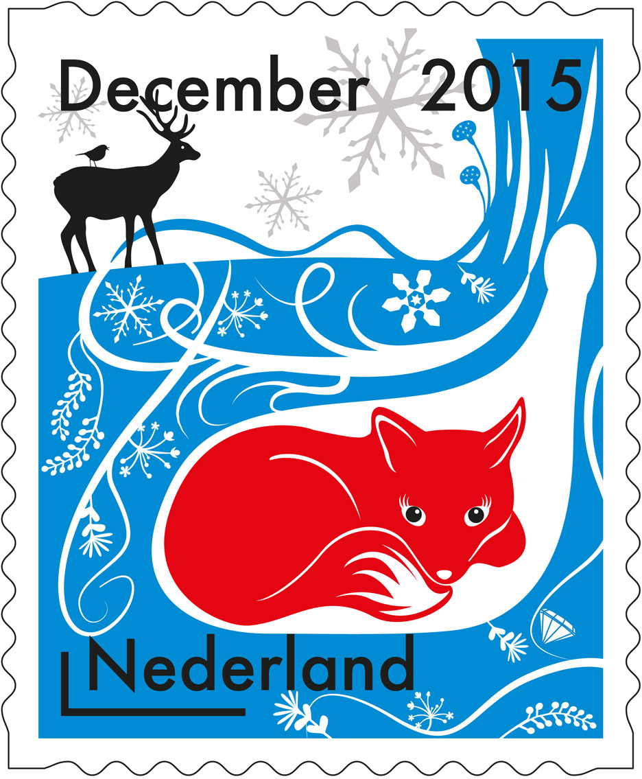 PostNL Christmas stamps by Tord Boontje