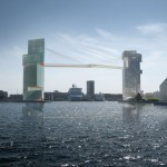Steven Holl to build Copenhagen skyscrapers linked by 65-metre-high cycle bridge