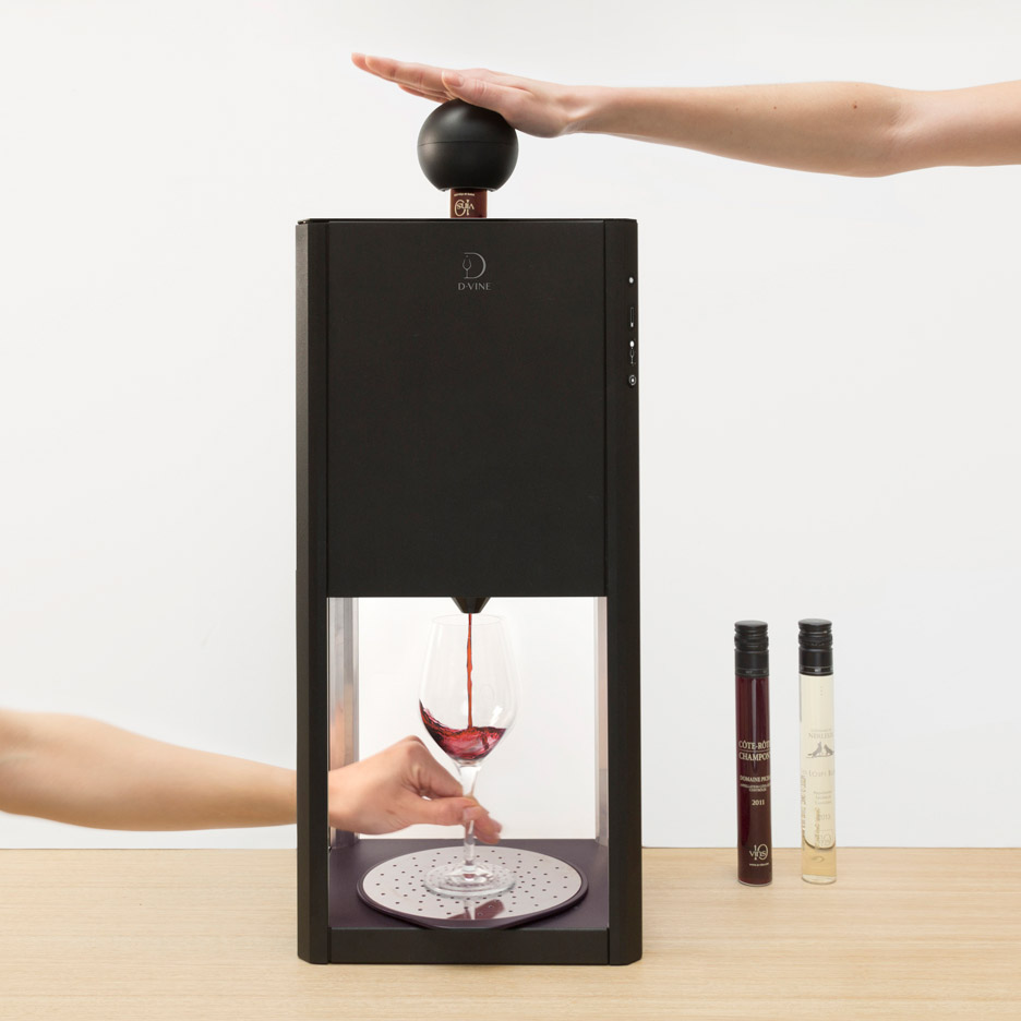 Constance Guisset's D-Vine tabletop machine speeds up wine tasting