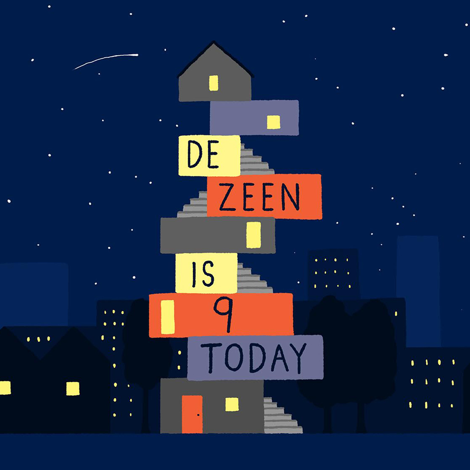 Dezeen's ninth birthday by Daniel Frost
