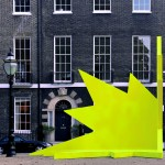 Didier Faustino's AA exhibition includes a spiky yellow stage for public speaking