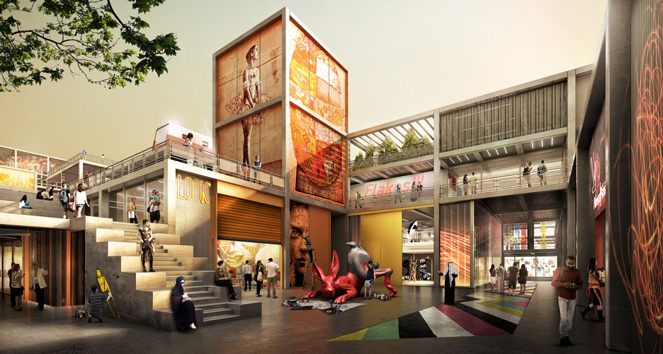 Visualisation of phase two of Dubai Design District