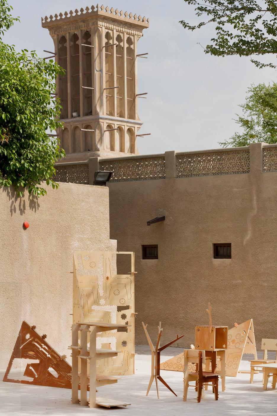 Deconstruction Zone installation by Henrique Stabile at Dubai Design Week 2015