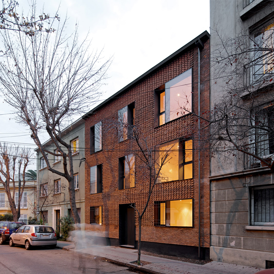MAPA updates Chilean housing block with textured brick facade
