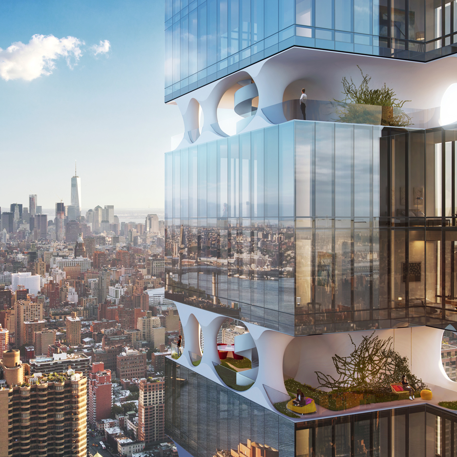 ODA proposes a Manhattan skyscraper with open floors for sky gardens