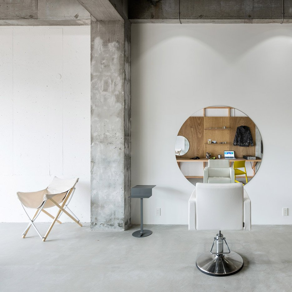 Minimal hair salon by Sides Core accommodates just one customer at a time