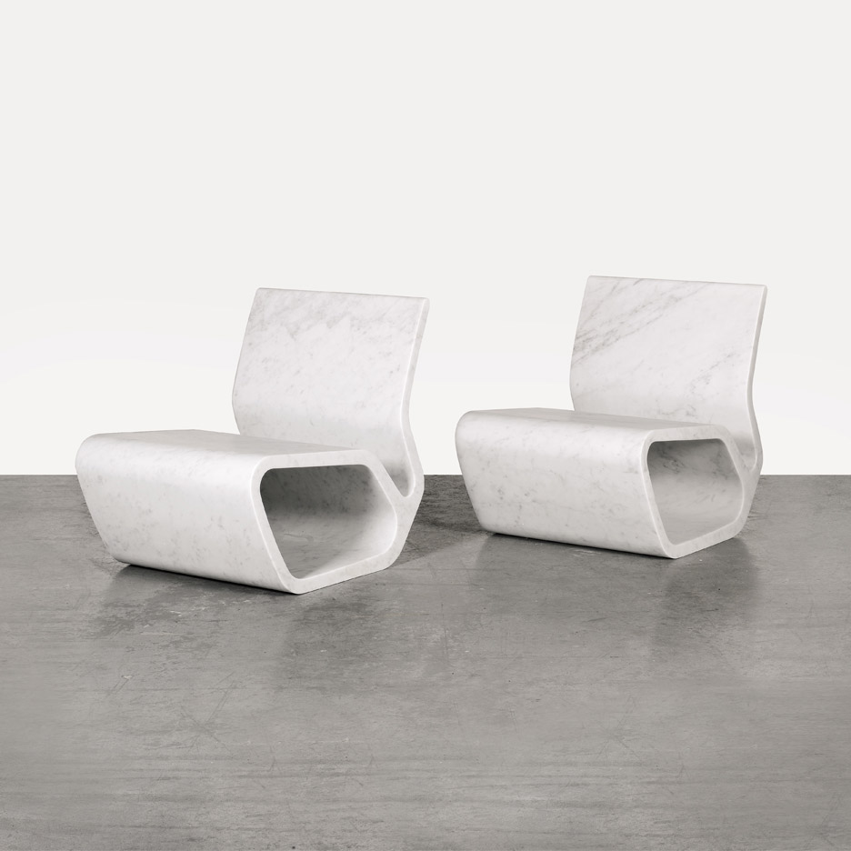 Extruded Chairs by Marc Newson