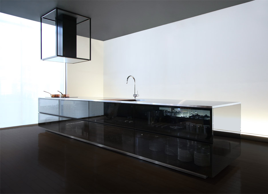 Nice Finesse Glass Modular Kitchen System By Tokujin Yoshioka Good Looking
