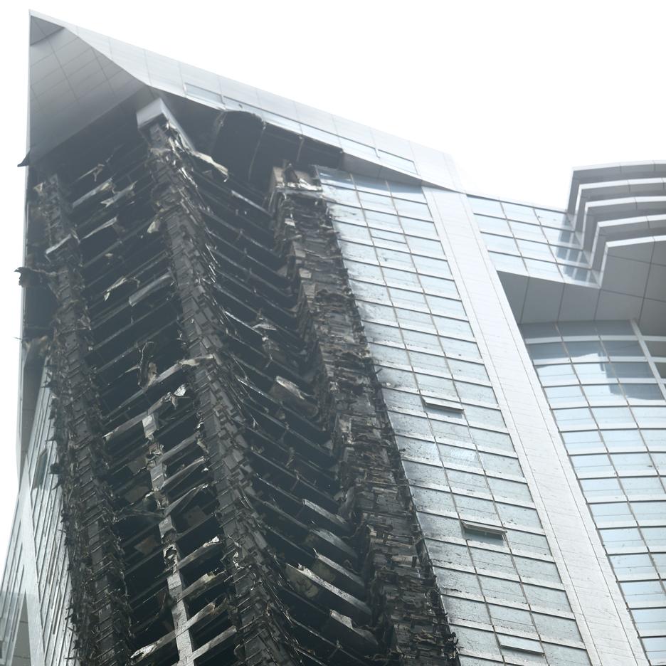 Dubai skyscraper fire