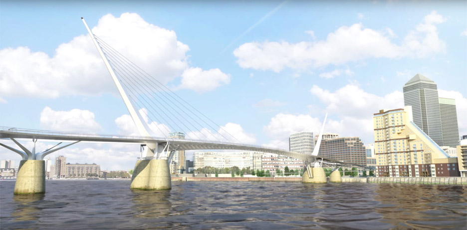London pedestrian and cycle bridge proposal by reForm