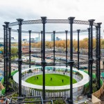 Bell Phillips converts Victorian gas holder into circular park for King's Cross