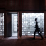 Glass blocks create multi-tonal facade for antiques showroom by Jun Murata