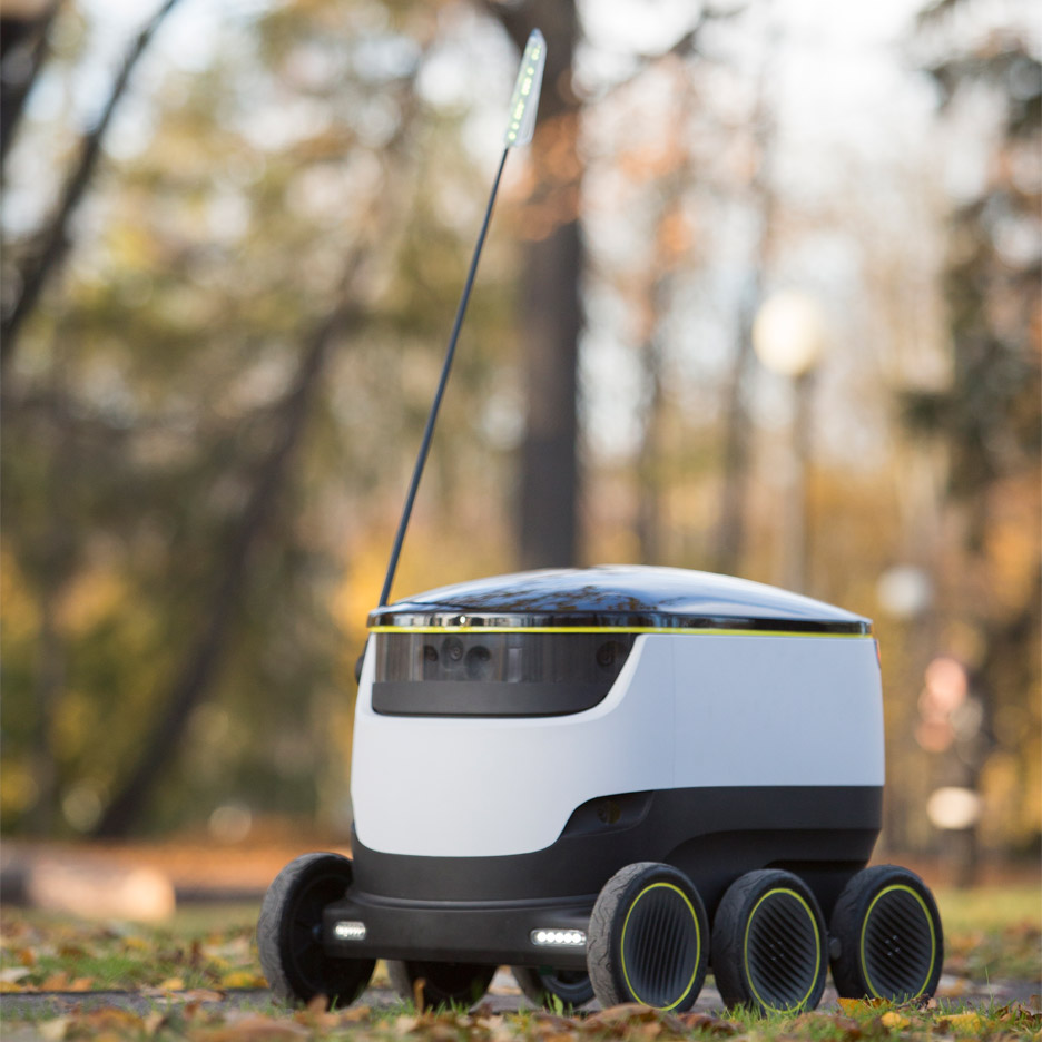 Grocery delivering robots by Skype