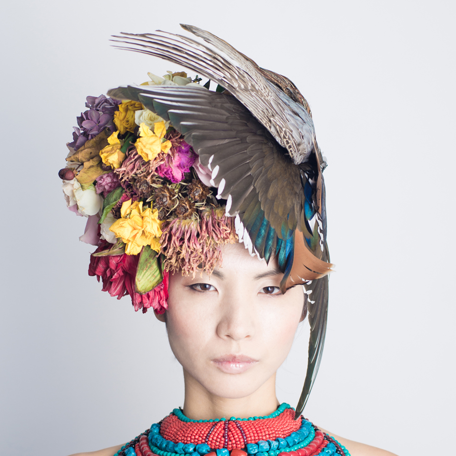 Hanayuishi Takaya taxidermy headdress