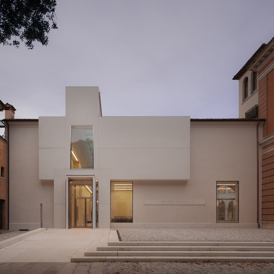 Cross-shaped facade added to art museum in a former monastery