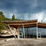 Sweco Architects builds timber-framed restaurant at Sweden's Hemsö Fortress