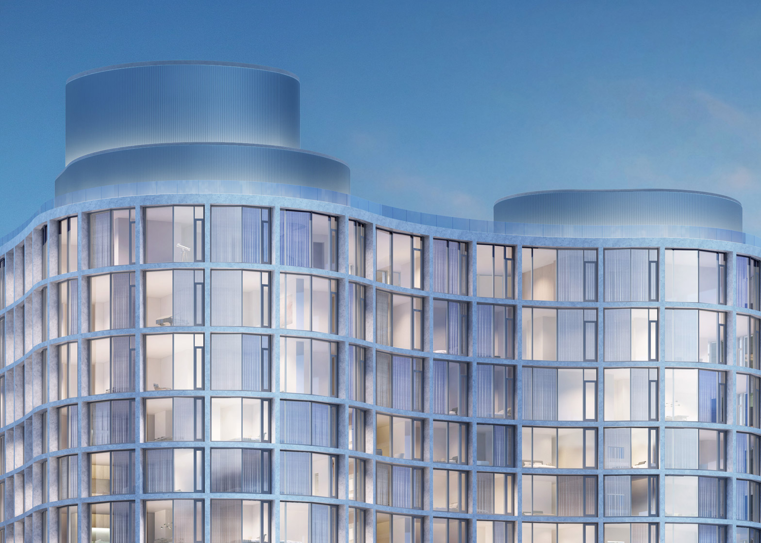 """Herzog & de Meuron designs """"curvaceous and sexy"""" apartments on New York's Hudson"""