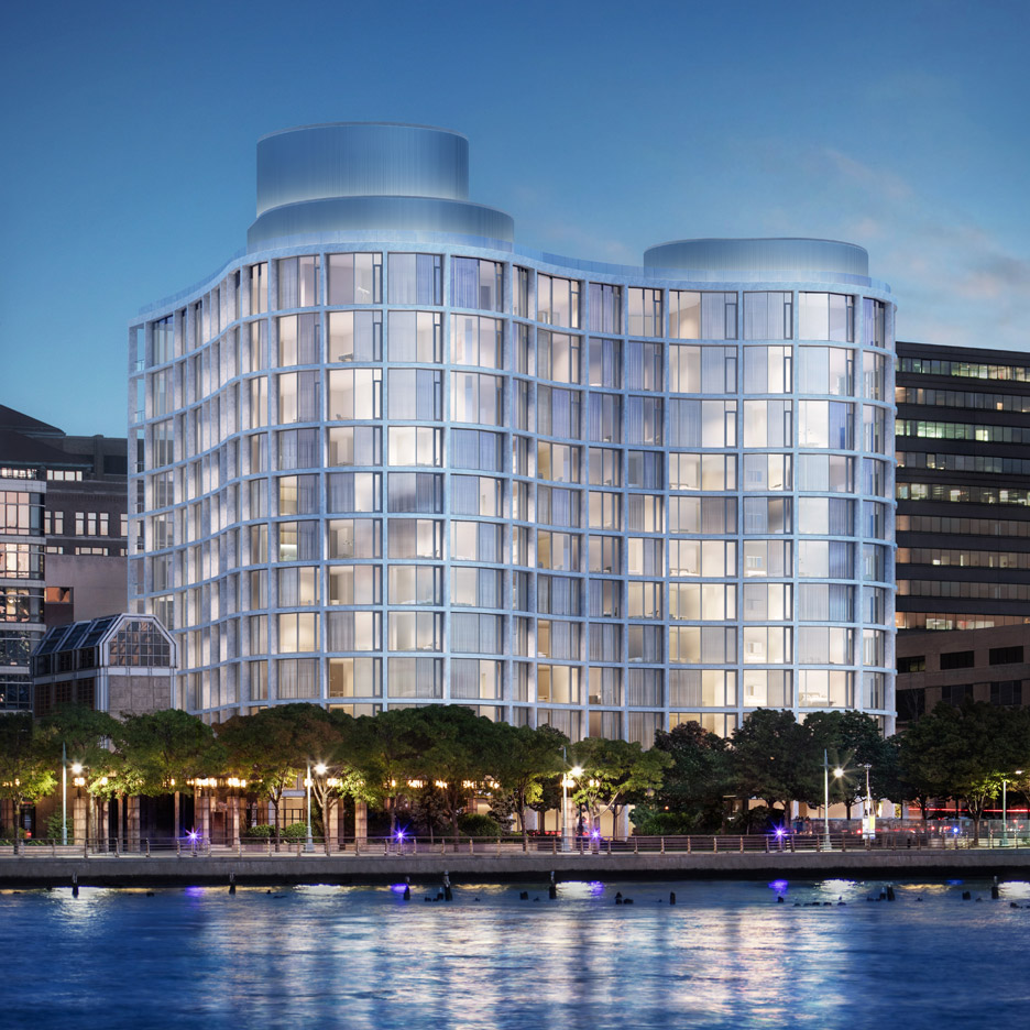 "Herzog & de Meuron designs ""curvaceous and sexy"" apartments on New York's Hudson"