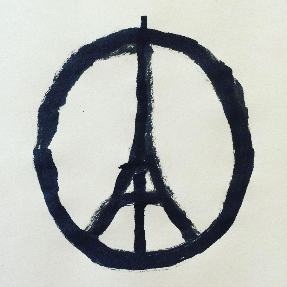 Jean Julliens Peace For Paris Illustration Becomes Symbol Of Unity