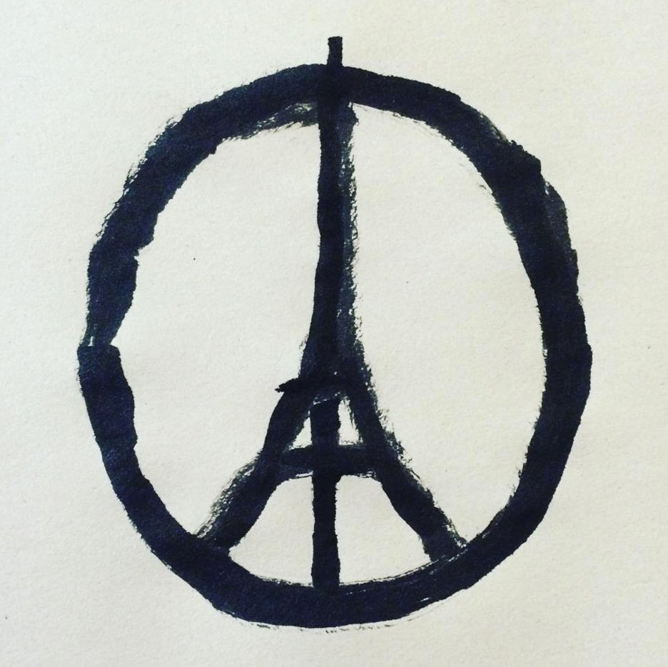 Peace for Paris illustration by Jean Jullien