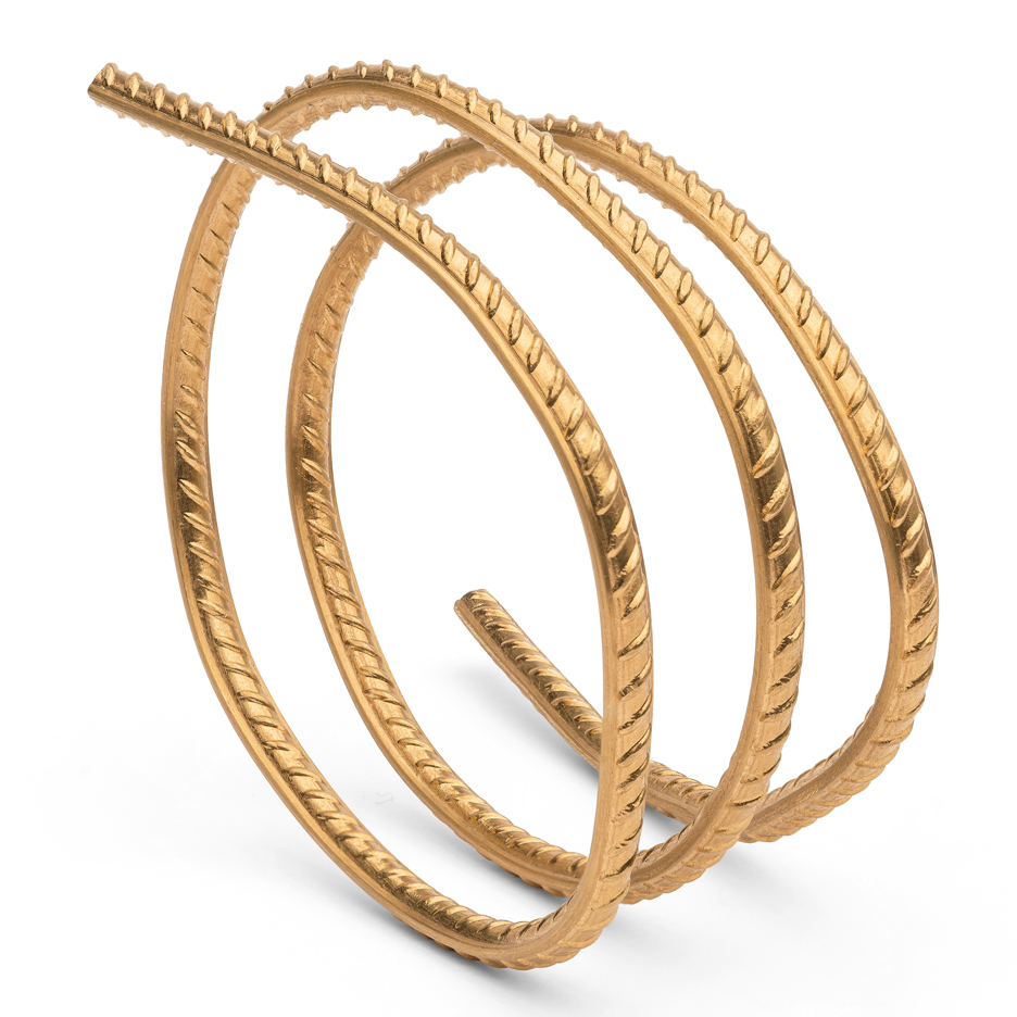 Ai Weiwei's first jewellery collection is cut from a rod of gold rebar