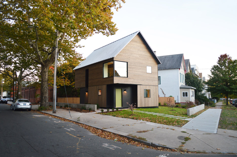 tiny garages are not cool cedar clad house by yale
