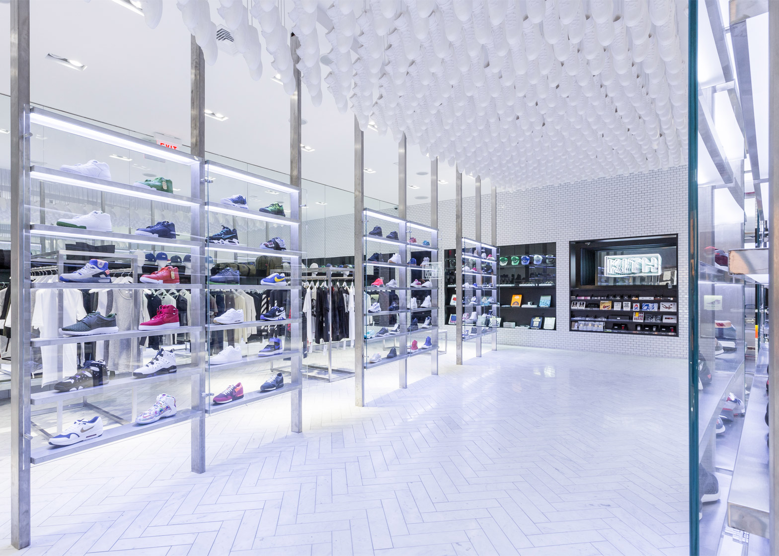 20319819d495 Snarkitecture suspends 700 Air Jordan replicas in Kith s Brooklyn store