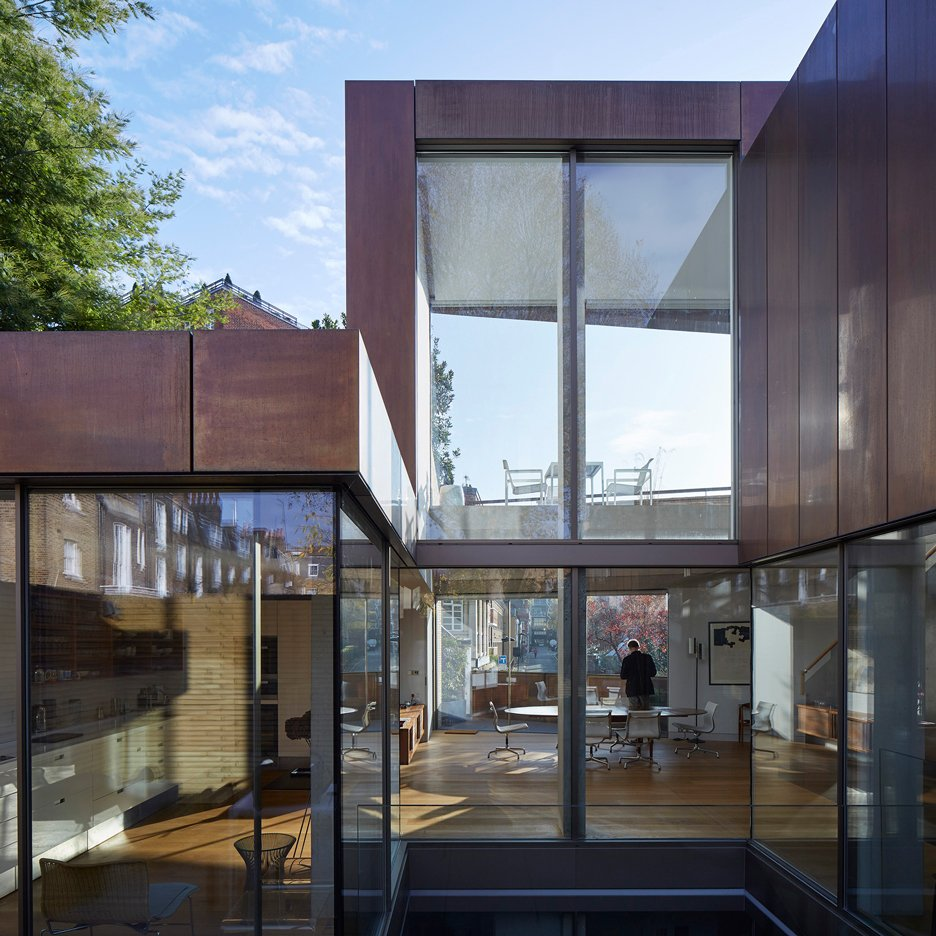 Jamie Fobert pairs handmade bricks with bronze panelling for London townhouse