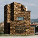 Estudio Beldarrain uses reclaimed railway sleepers to extend Spanish library