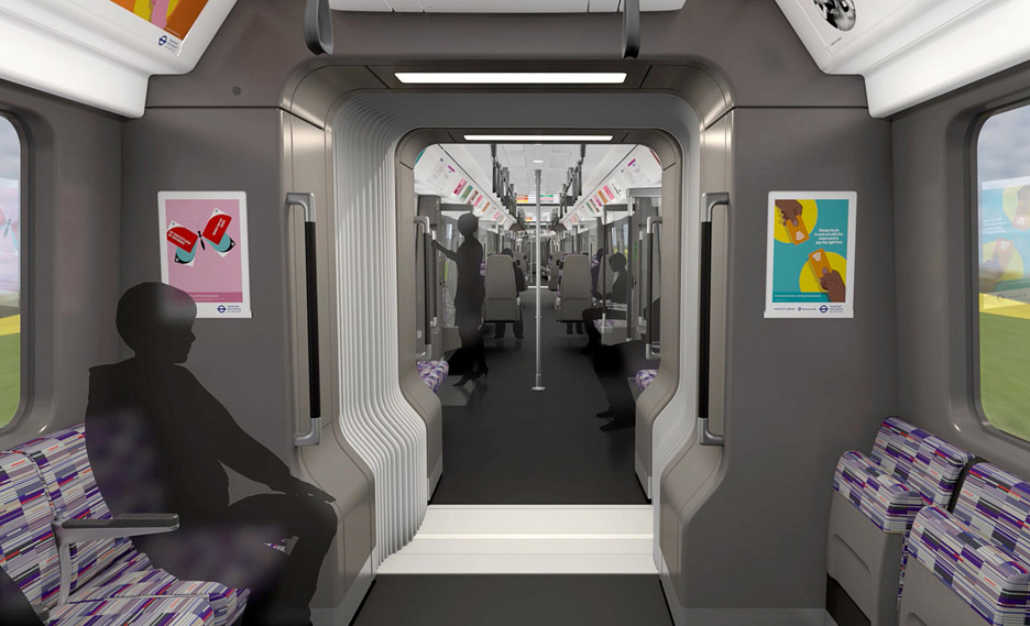 London Crossrail trains by Barber and Osgerby