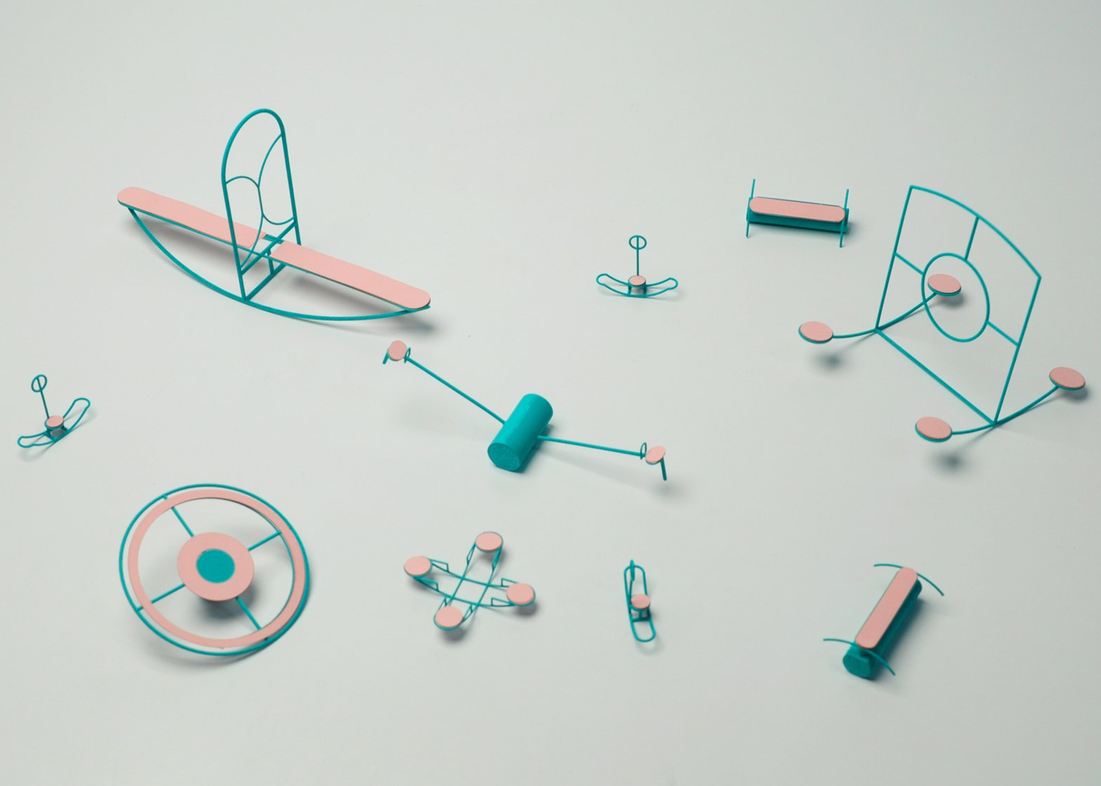 Loose Play playground equipment by Capucine Diancourt