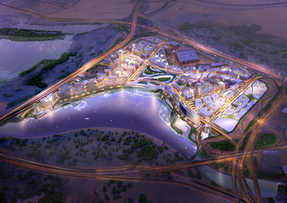 Render of Dubai Design District D3 masterplan