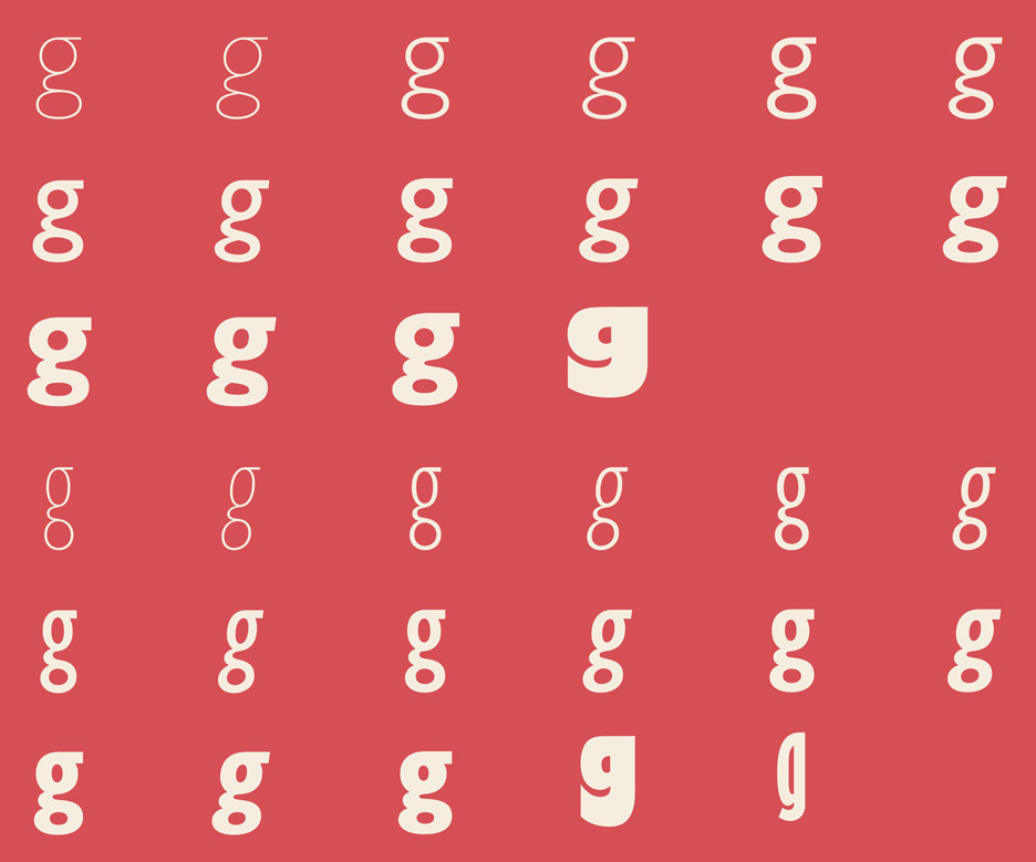 Eric Gill typeface series by Terrance Weinzierl