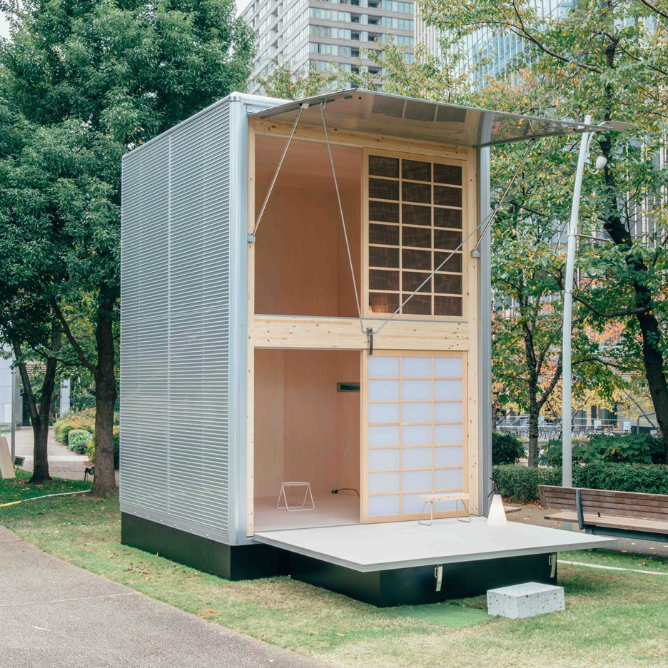 Muji launches trio of minimal cabins for city escapees for Small hut plans