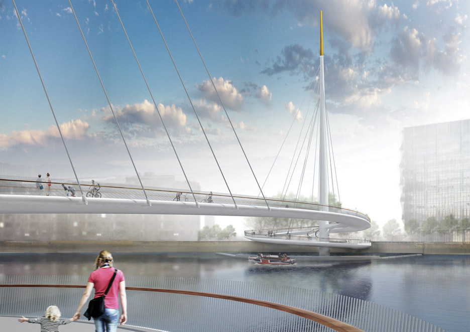 Pedestrian and cycle bridge by Bystrup