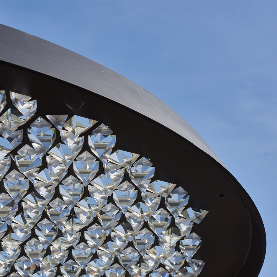 Samuel Wilkinson's Ommatidium sculpture offers kaleidoscopic views of the sky