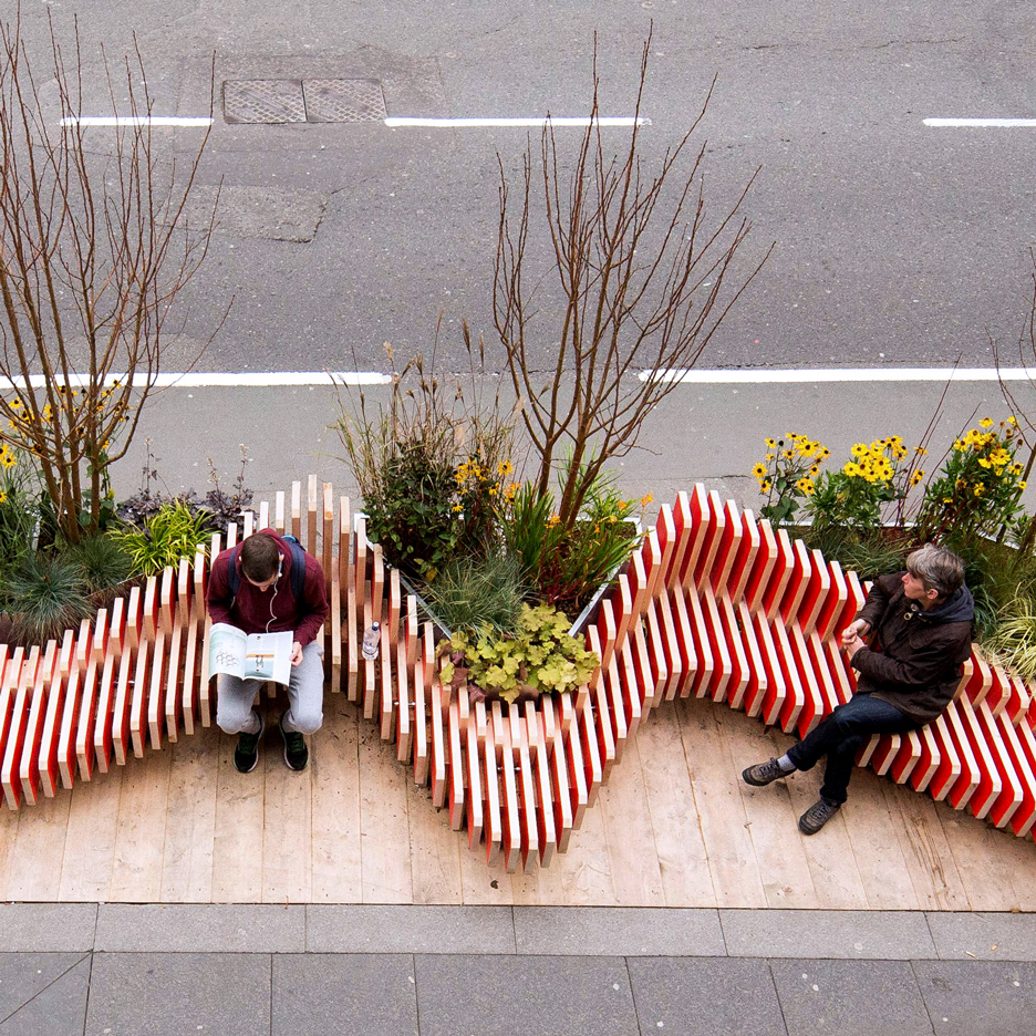 "Portable ""parklet"" by WMB Studio adds greenery to London's streets"
