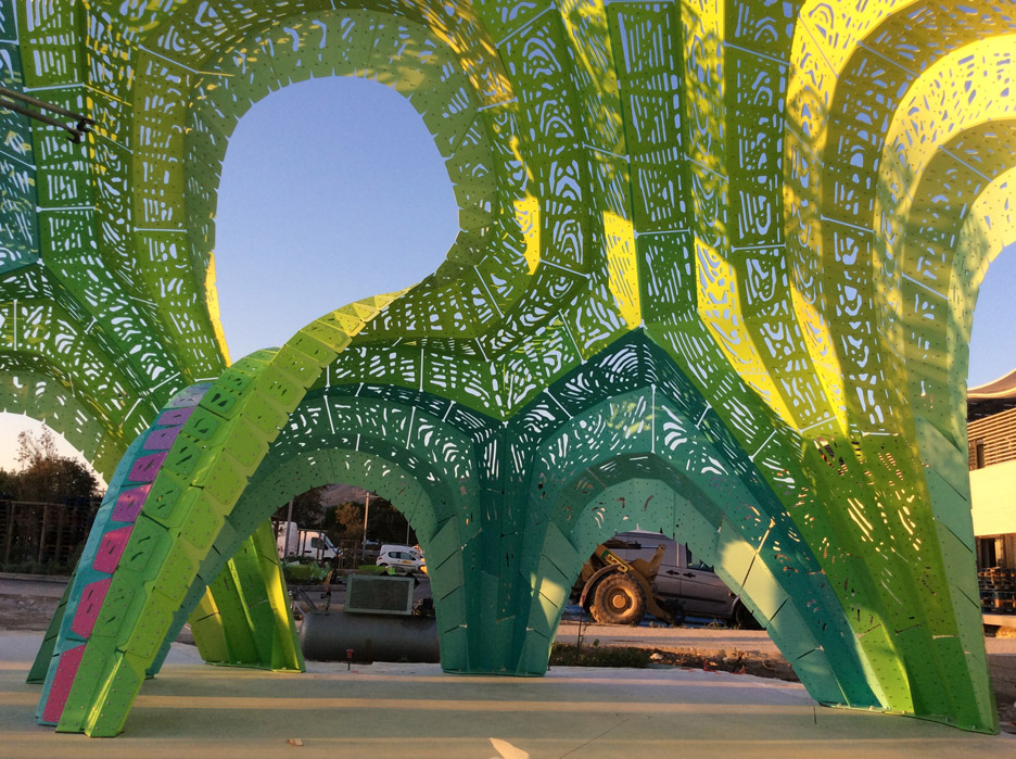 Pleated Inflation by Marc Fornes in Argeles, France