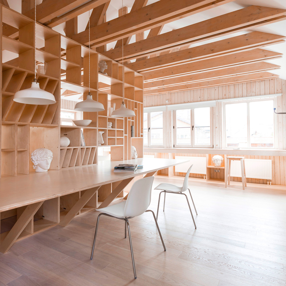 Great Artistu0027s Studio By Ruetemple Is Designed In A Single Wooden Unit