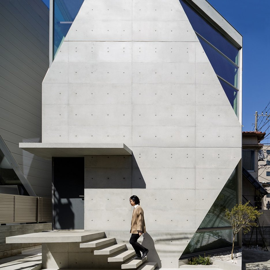 Atelier Tekuto completes crystalline concrete home for two chemists